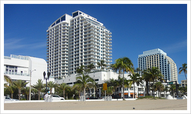 Q Club Resort & Residences, Fort Lauderdale - Oceanfront complex, units from $260,000 and Up - www.cjmingolelli.com/florida