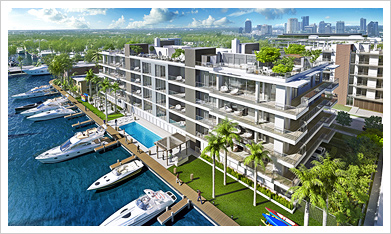 Aqualuna, Fort Lauderdale - 3 Bedrooms Apartments - Price Range from $1.25 Million and Up